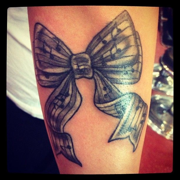 bow music tattoo