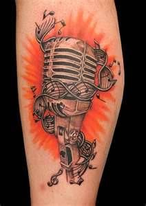 mic music tattoo