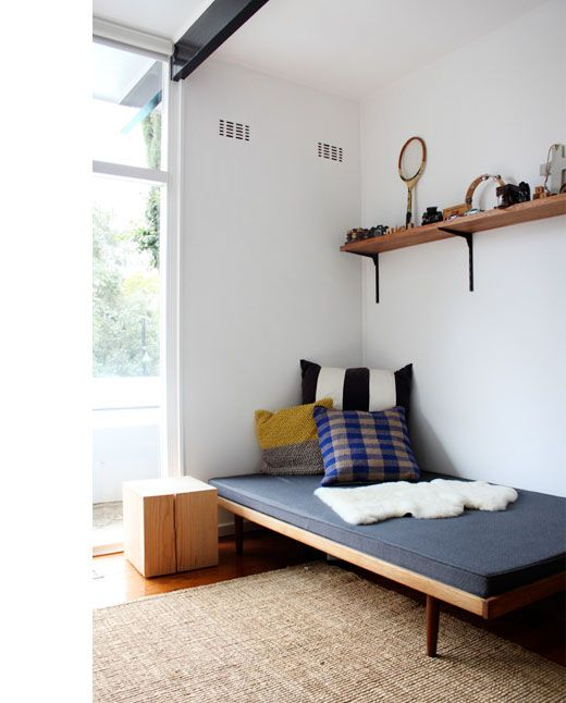 neat white bedroom for boys
