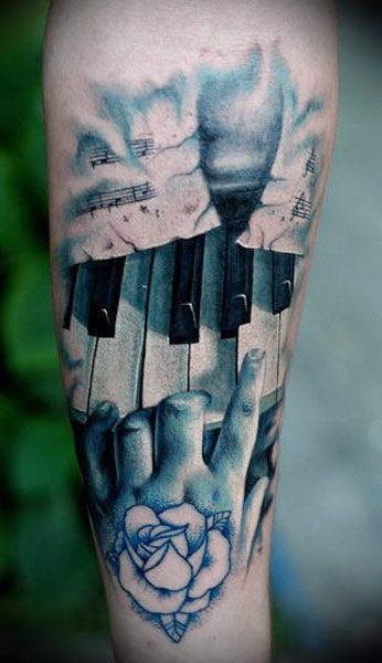 piano tattoo