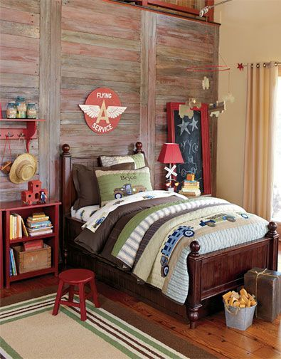 rustic bedroom for boys