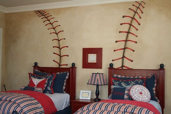 baseball bedroom for boys