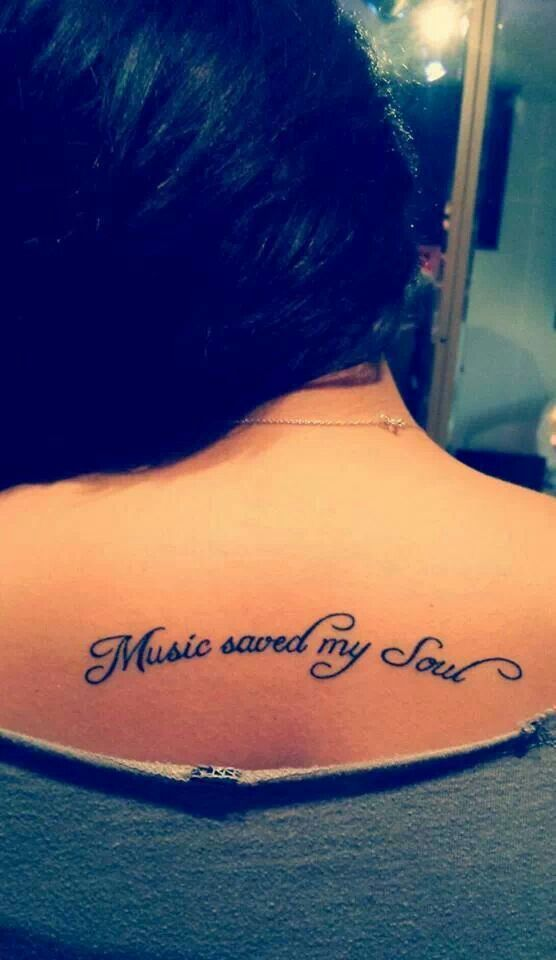 text music tattoo