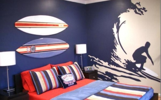 surfer boy bedroom