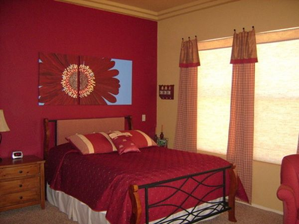 red romantic bedroom