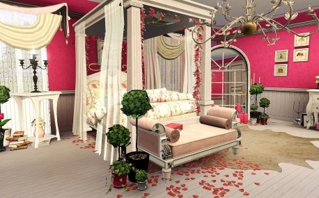 vintage style romantic bedroom