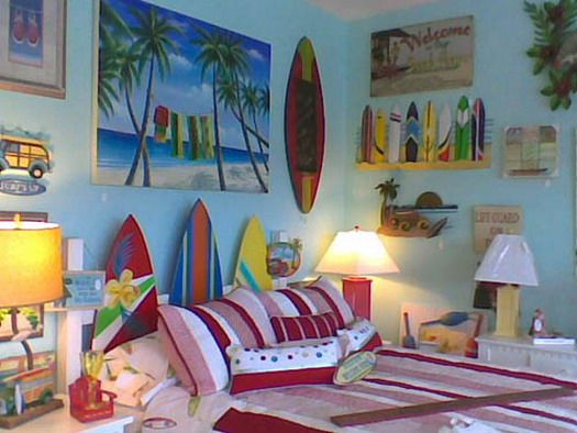 fresh beach style bedroom