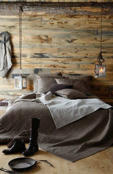 complete rustic style bedroom