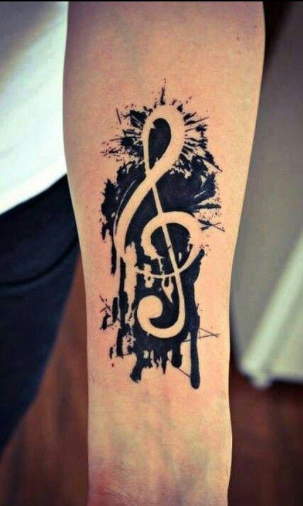 new school music tattoo