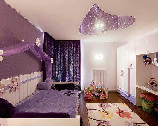 purple bedroom for girls