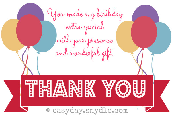 Thank You For Birthday Gift Card Thank You Cards 2017 – Thank You Card Wording for Birthday Gift