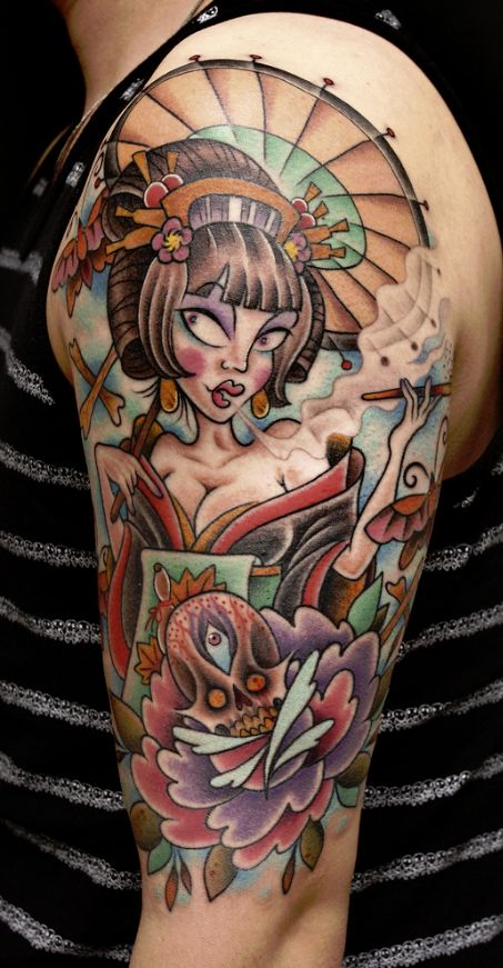 modern princess tattoo
