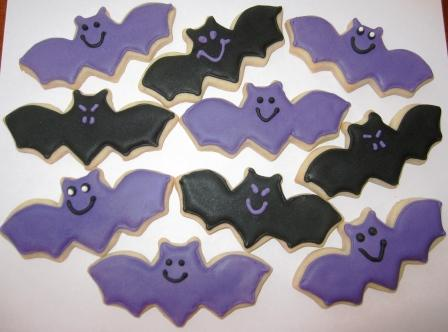 Bat Cookies - cookingwithkaren.wordpress.com