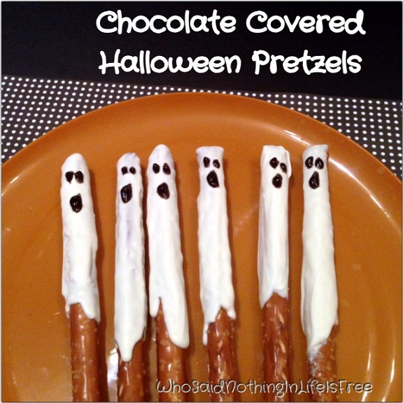 Ghost Stick Pretzels