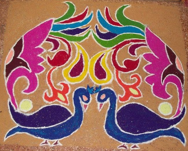 peacock-Rangoli