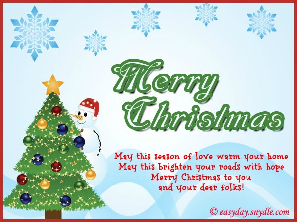 Christmas card family messages merry christmas and happy new year 2018 at christmas m4hsunfo