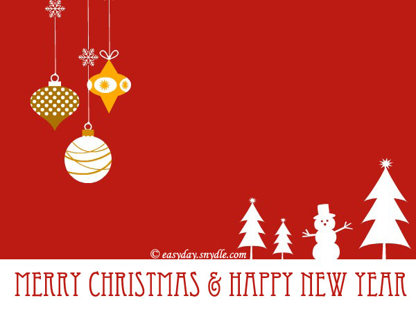 Free Merry Christmas Cards and Printable Christmas Cards - Easyday