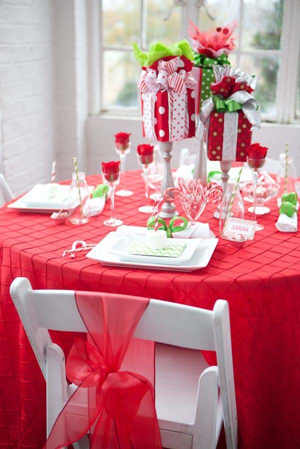 Christmas Table Decorations Pinterest Myideasbedroomcom