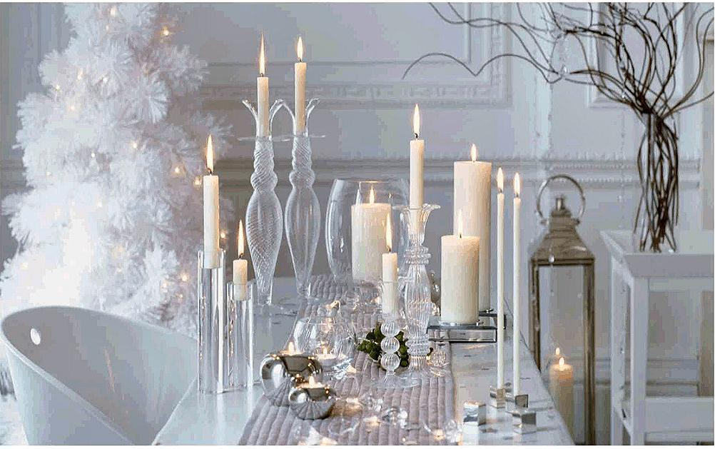 How to decorate a table for christmas easyday White christmas centerpieces