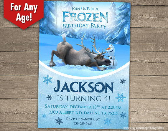 Boys Frozen Birthday Party Invitation