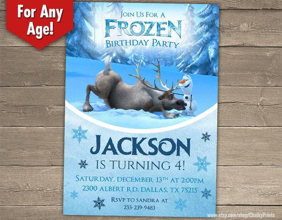 Boys Frozen Birthday Party Invitation