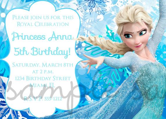 Frozen Princess Birthday Party Invitation