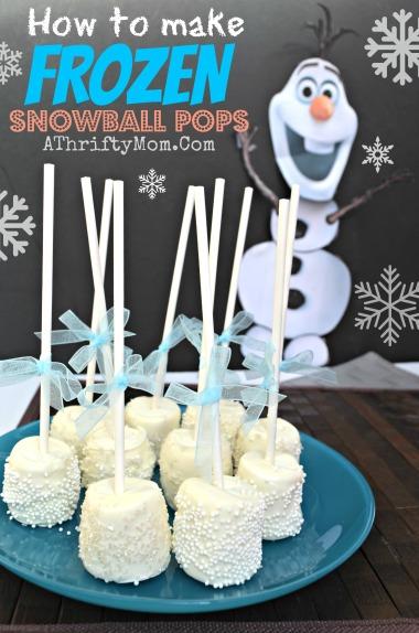Frozen Snowball Pops