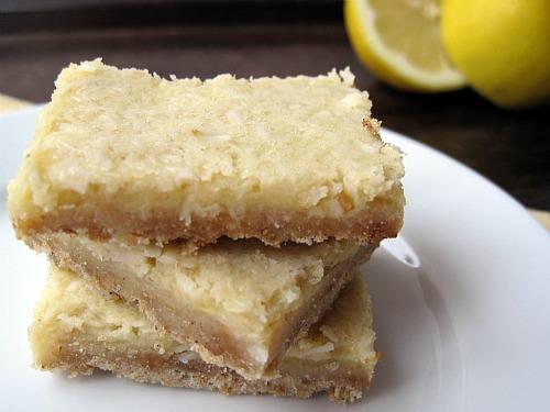 Gluten Free Lemon Coconut Bars