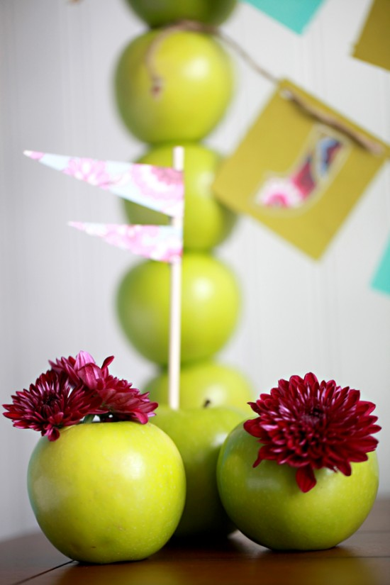 Green Apple Tower Centrepiece