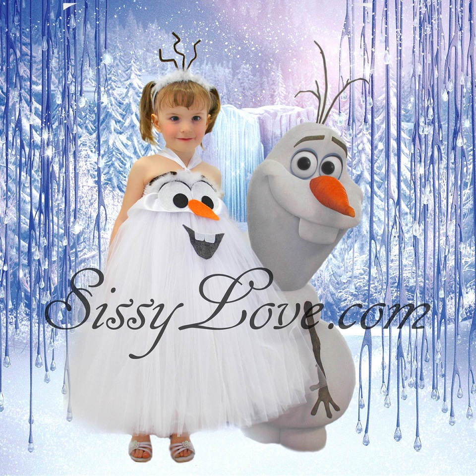 Olaf Inspired Birthday Dress