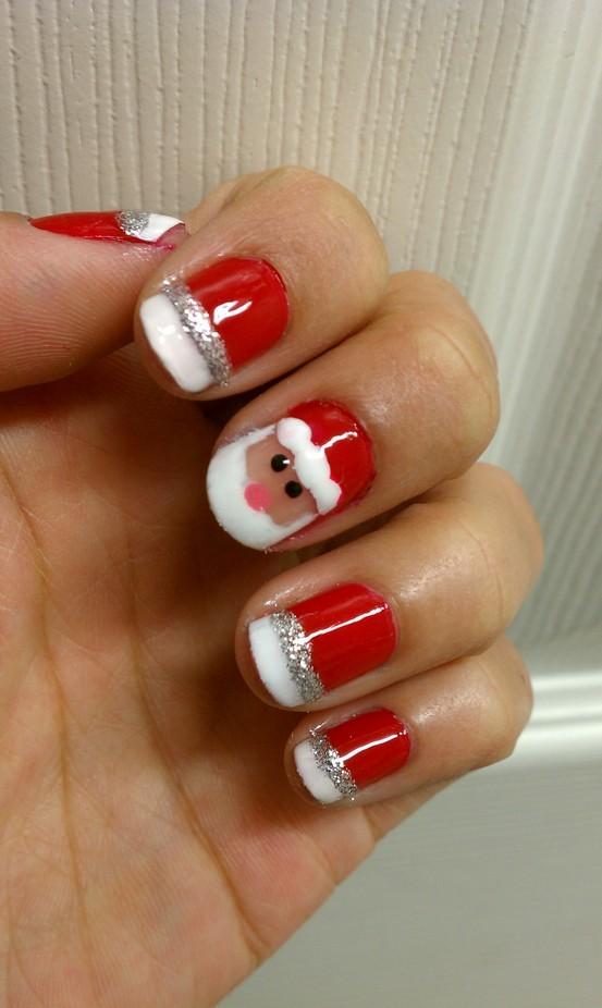 Santa Comes Home Thru My Nails