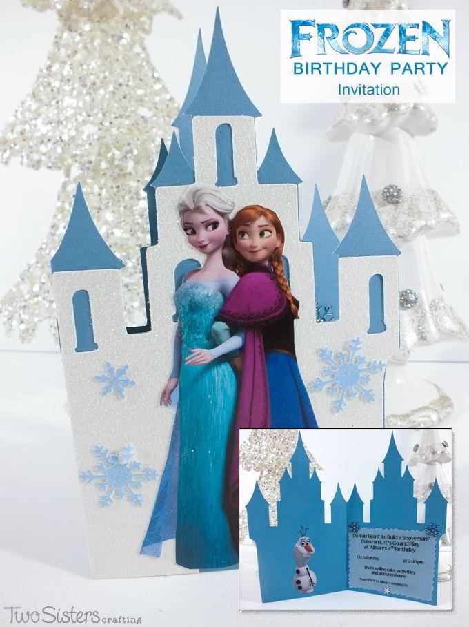 Snowman Frozen Birthday Party Invitation