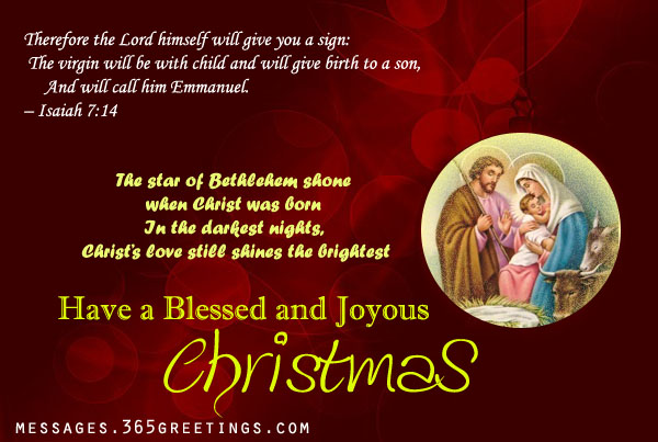 Christian Christmas Card Messages – Easyday