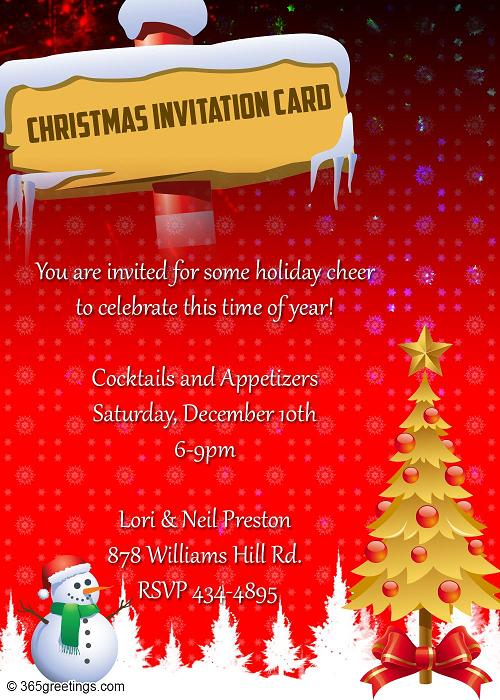 Top christmas invitations for this christmas easyday christmas invitation card stopboris Images