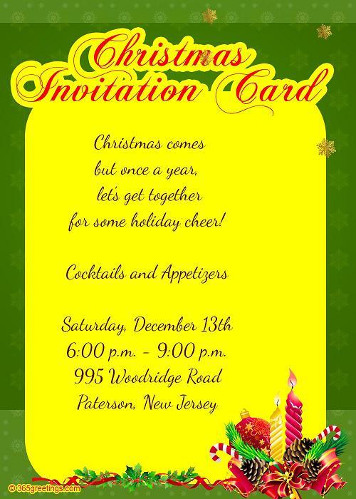 christmas -invites