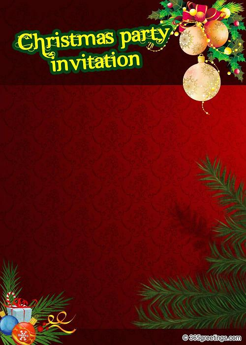 Top christmas invitations for this christmas easyday christmas party invitation template stopboris Choice Image