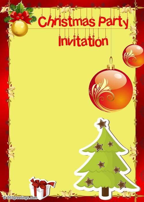 printable christmas invitations temp