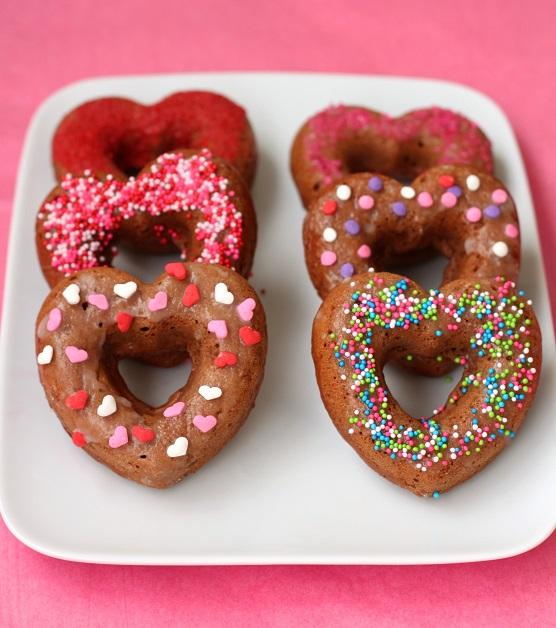 Chocolate Heart Doughnuts