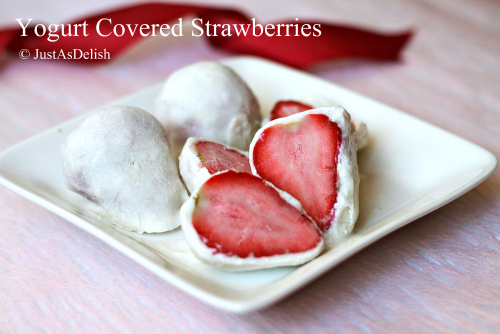Greek Yogurt Covered Strawberries