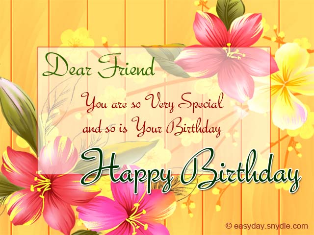 Birthday wishes for friend easyday birthday greetings for friends m4hsunfo