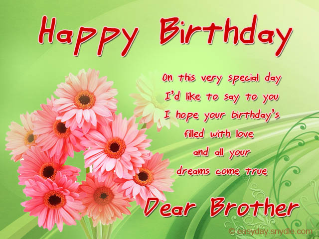 Birthday Wishes for Brother - Easyday