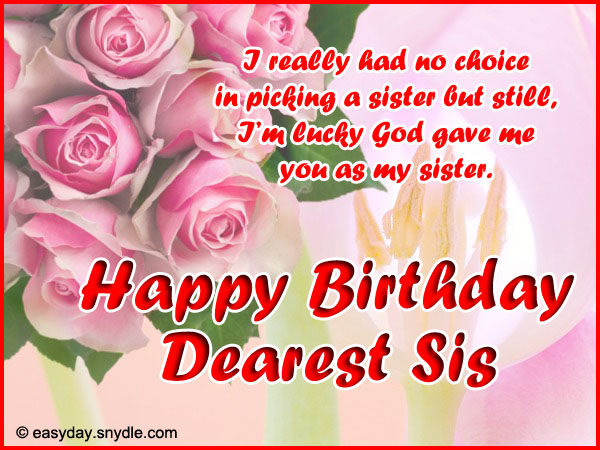 Birthday Wishes for Sister - Easyday