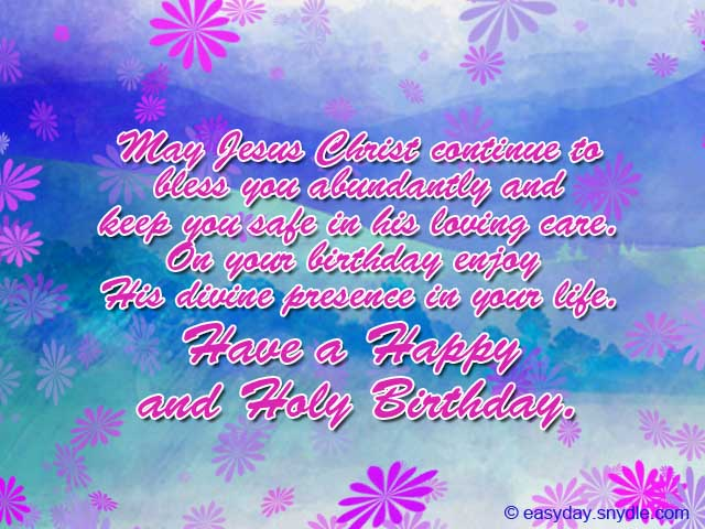Christian Birthday Wishes Easyday – Birthday Greeting Christian