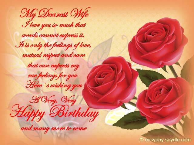 Birthday Wishes for Wife Easyday – Happy Birthday Greeting for Wife