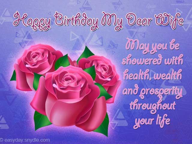 Birthday wishes for wife easyday wife birthday greetings m4hsunfo
