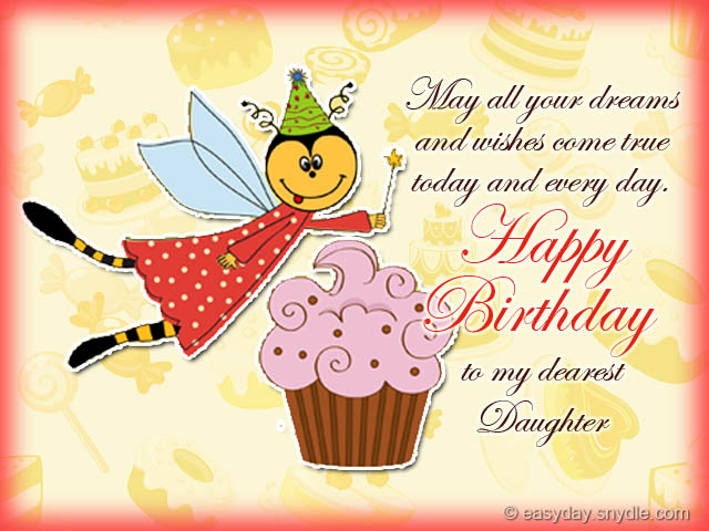 birthday messages for your daughter  easyday, Birthday card