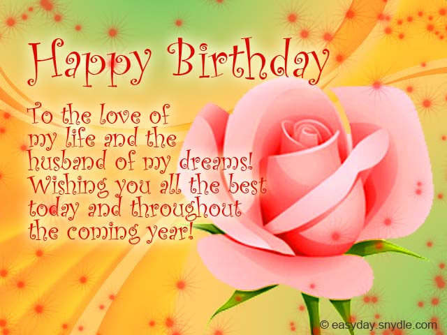 Husband birthday greetings easyday husband birthday greetings m4hsunfo