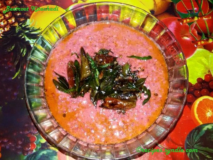 Beetroot-kitchadi