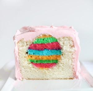 Easter Egg Inside Surprise Cake