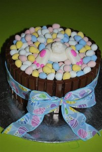 Easter Eggs in a Basket Cake